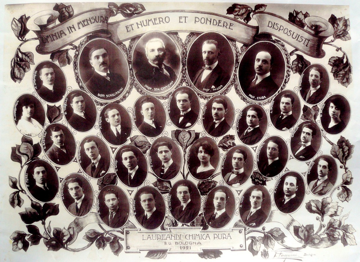 The graduates of 1921 in Pure Chemistry and their teachers
