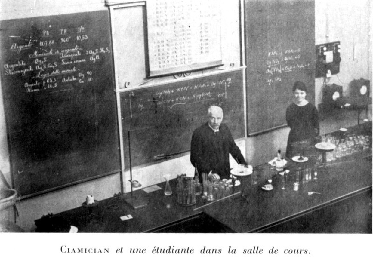Ciamician with a student